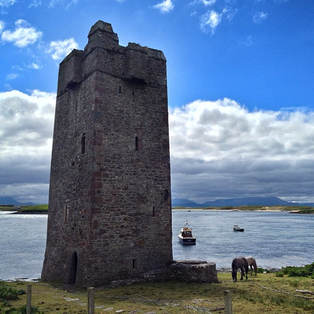 Grainne's Castle near Achill Island