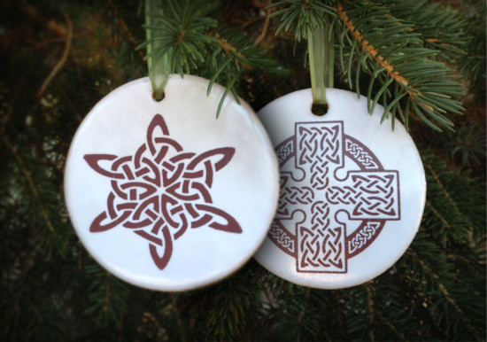 were super excited to unveil two celtic christmas ornaments especially for the irish fireside community - Celtic Christmas