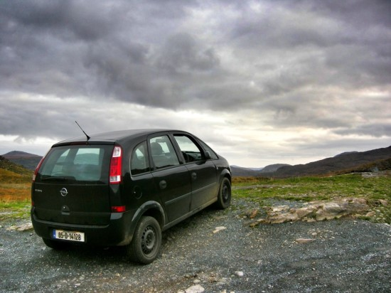 Car on the Ring of Kerry