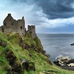 Foreboding skies at Dunluce Castle, Co Antrim
