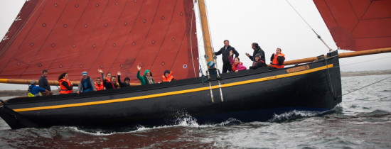 On board a traditional Galway Hooker on the west coast of Ireland -  Photo: http://www.seanomainnin.com/p561751324