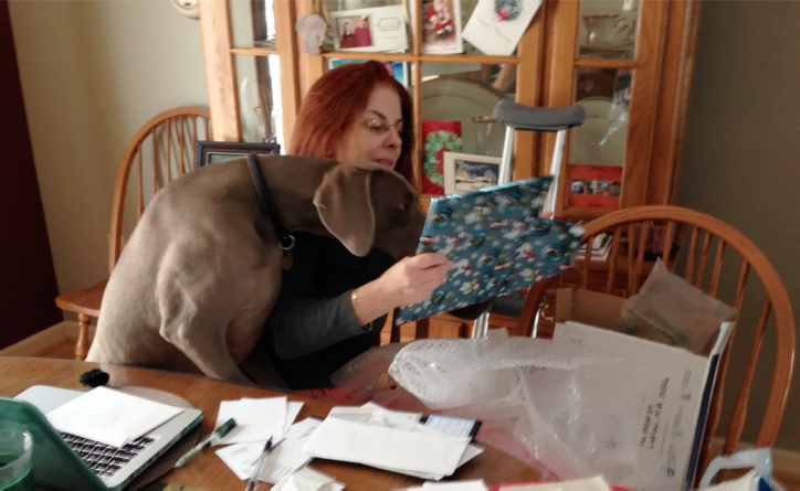 While I was recuperating from surgery, I had my husband take pictures of me opening my gift with my dog Ronan's help. My Secret Santa was Travis of Idaho and The Engaging Ireland Podcast.  He sent me wonderful photo's that he took on one of his visits to Ireland.  I love them. - Alesia in Massachusetts