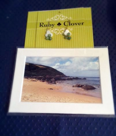 Here's my gift from Ruby in Illinois. She made the earrings and took the photo herself. -- Christina in Washington