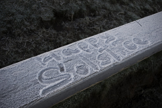 A message left on a bench at Loughcrew on the Solstice. - Photo by Ilja Klutman via Flickr Creative Commons