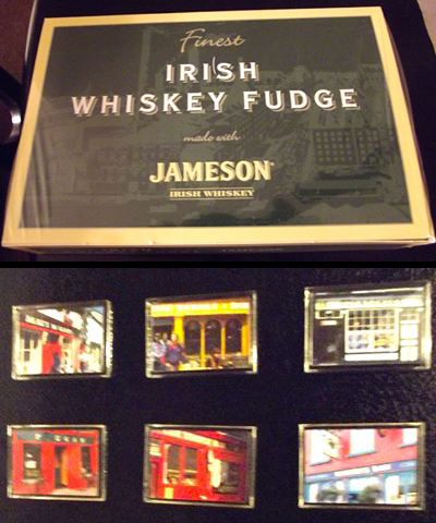 I received magnets of Irish pubs and Irish whiskey fudge. I'm sure I will realy enjoy this. Thanks Stacy in Minnesota. -- Lynda in Illinois