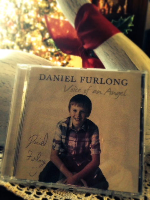 Thanks to Christopher of Texas, who sent me this wonderful CD of Daniel Furlong, who won the all Ireland talent show in 2011.  Christopher sent this early but I had put it in packages my daughter was having sent here for Christmas. She lives in Texas also and ships her gifts here.  So I got a surprise when we went to wrap her gifts today! Thanks Christopher, and Merry Christmas to all! -- Suzette in Ohio