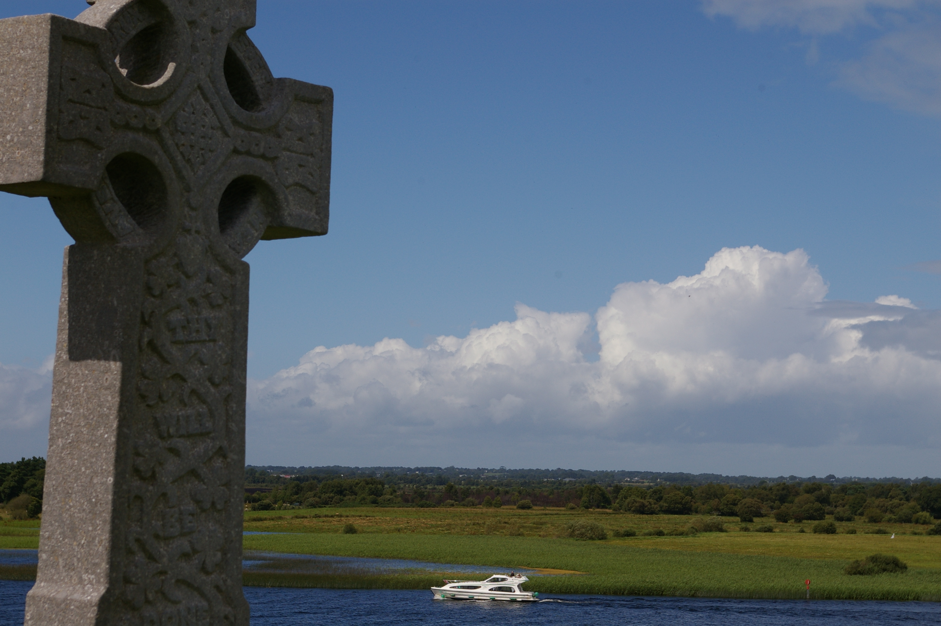 Cruising the Shannon River at Clonmacnoise