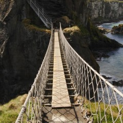 Postcard from Ireland: Stepping on to the Carrick-a-Rede Rope Bridge