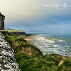 Postcard from Ireland: Mussendun Temple and Downhill Demesne