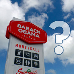 Barack Obama Plaza? The Curious Tale of How an Irish Rest Stop Was Named After a US President