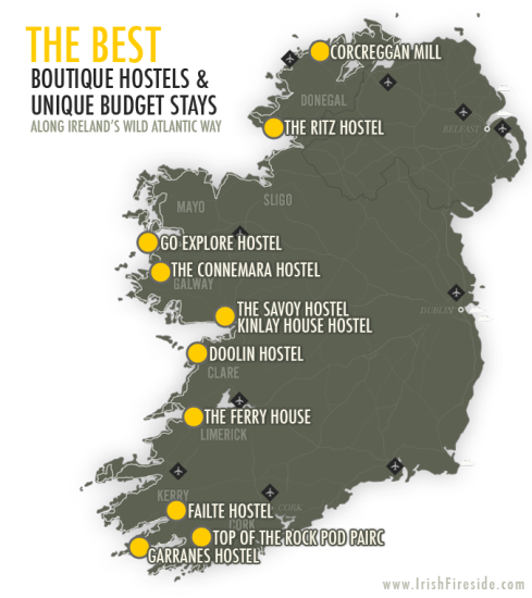 Best Boutique Hostels and Unique Budget Stay Along Ireland's Wild Atlantic Way