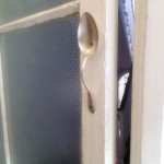 Spoon door handle