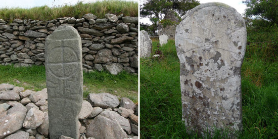 Cross marker at the Gallarus Oratory and Killaghtee Cross