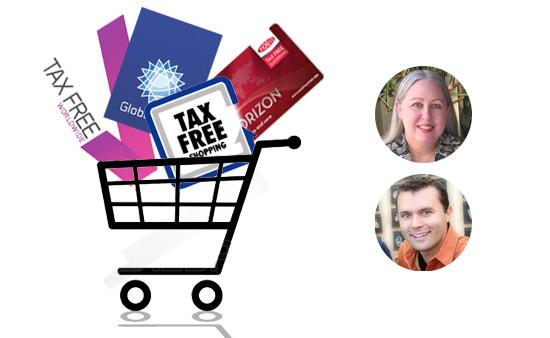 tax free shopping in ireland with Michele Erdvig and Corey Taratuta