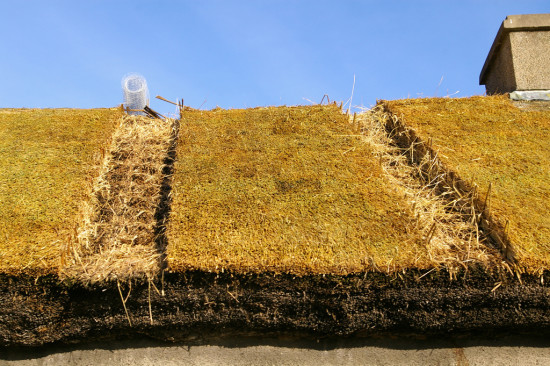 Installing new thatch in Kilkeel, County Down, Northern Ireland