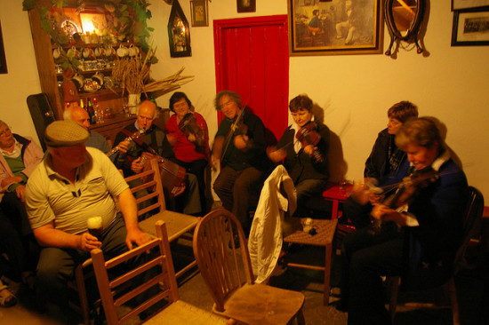 A music session at Jim O' the Mill, Upperchurch, Co Tipperary.
