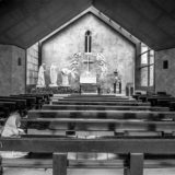 Postcard from Ireland: Nun in Solitary Prayer at Knock Shrine