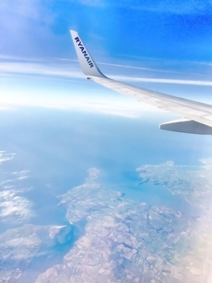 A view of Hook Head, County Wexford, from my RyanAir flight.